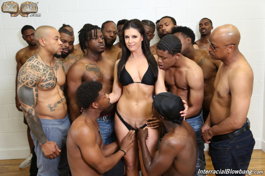 India Summer interracial blowbang
